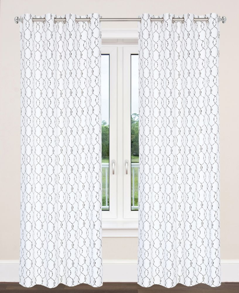 York 54x95-inch Cotton Grommet 2-Pack Curtain Set