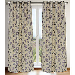 LJ Home Fashions Caitlin Floral Jacquard Grommet Curtain Panel Set, 54 inch W x 95 inch L