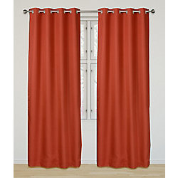 LJ Home Fashions Eclipse Room Darkening Privacy Grommet Panel Set 52 inch W x 95 inch L, Orange