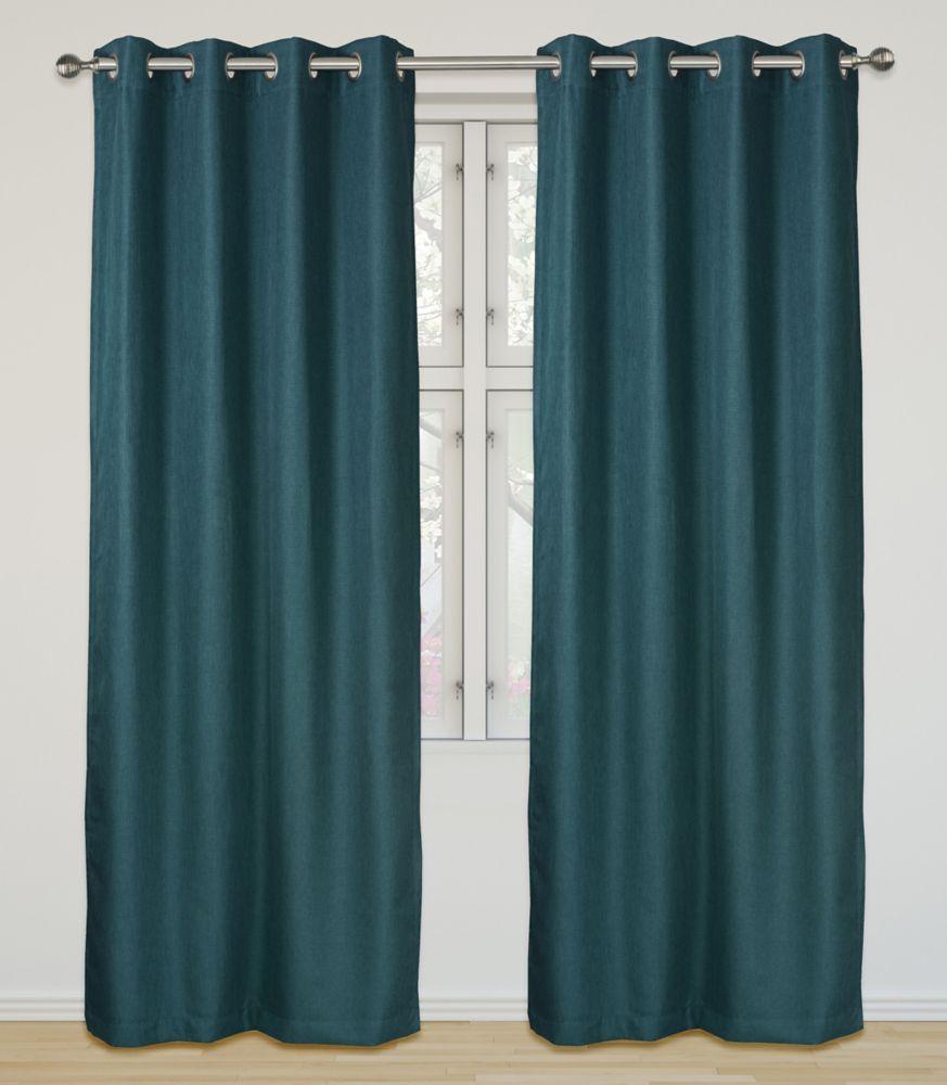 Eclipse Room Darkening 52x95-inch Grommet 2-Pack Curtain Set, Blue Jeans
