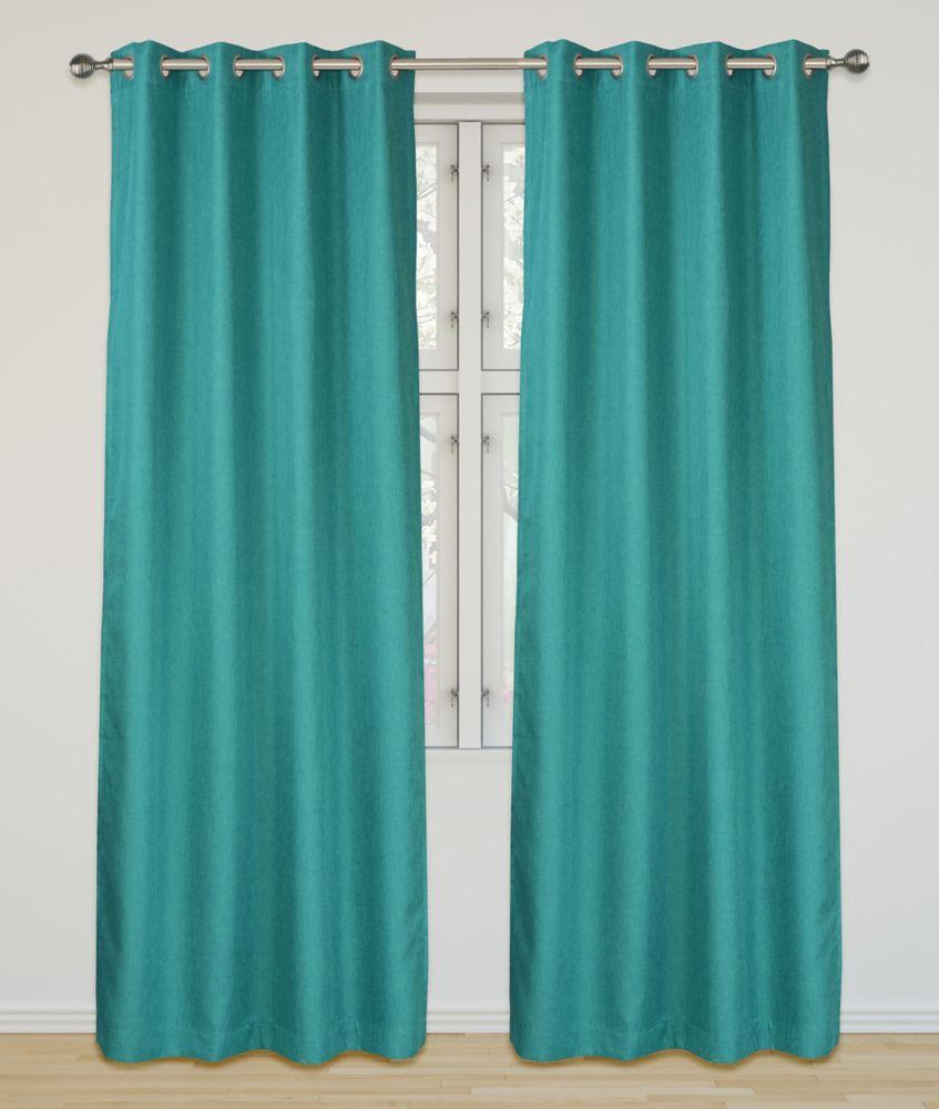 Eclipse Room Darkening 52x95-inch Grommet 2-Pack Curtain Set, Turquoise