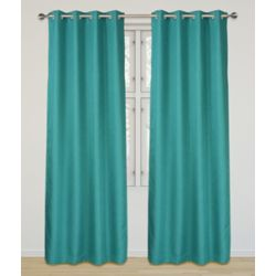 LJ Home Fashions Eclipse Room Darkening Privacy Grommet Panel Set 52 inch W x 95 inch L, Turquoise
