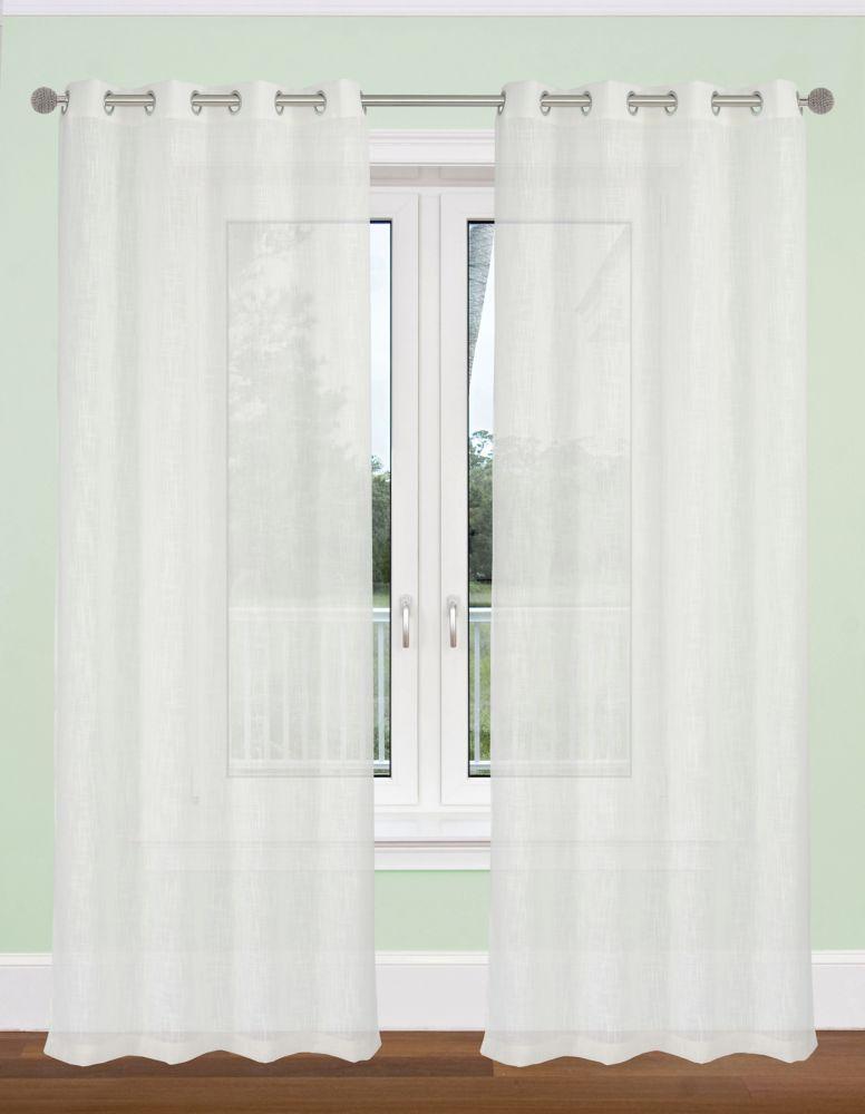 Aideen Textured Sheer54x95-inch Grommet 2-Pack Curtain Set