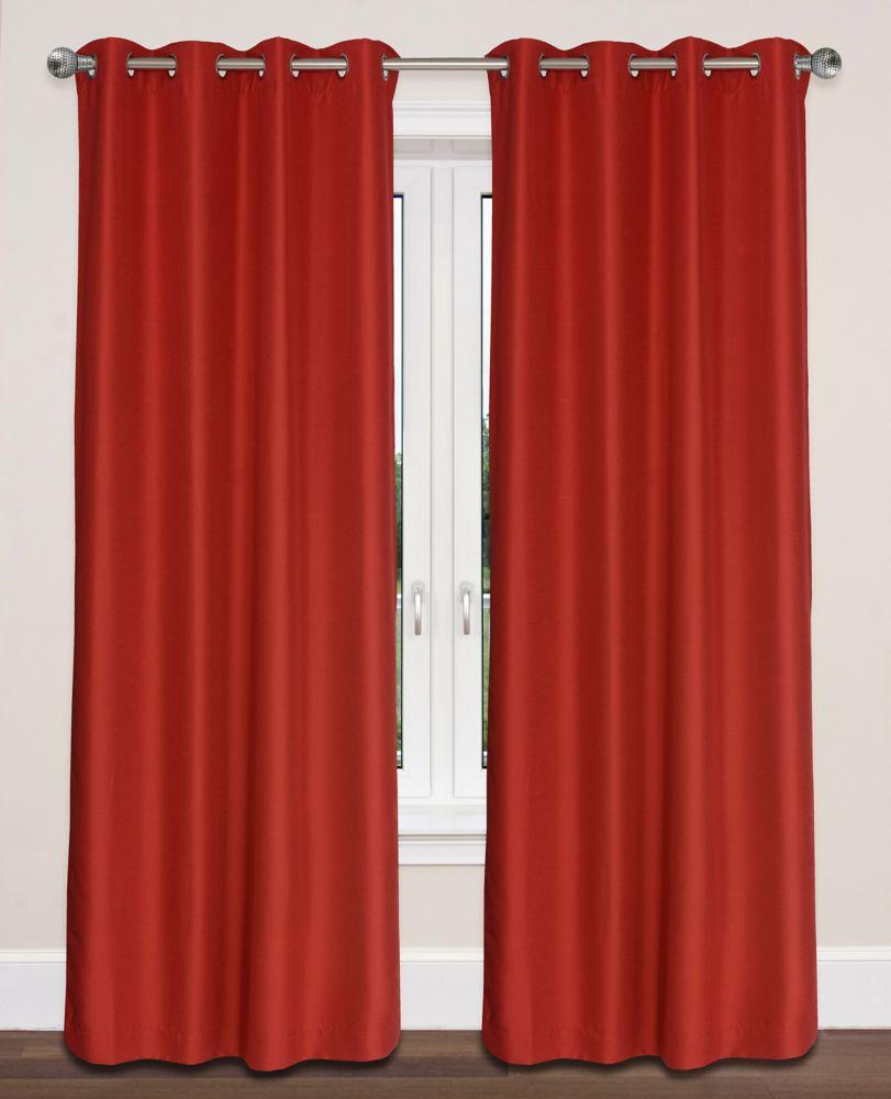 Twilight Room Darkening 54x95-inch Grommet 2-Pack Curtain Set, Scarlett Red