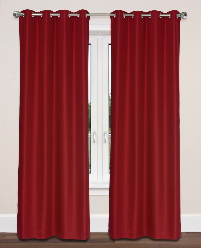 Twilight Room Darkening 54x95-inch Grommet 2-Pack Curtain Set, Red