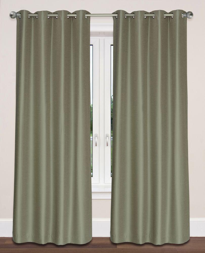 Twilight Room Darkening 54x95-inch Grommet 2-Pack Curtain Set, Taupe