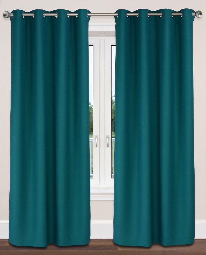 Twilight Room Darkening 54x95-inch Grommet 2-Pack Curtain Set, Teal Blue