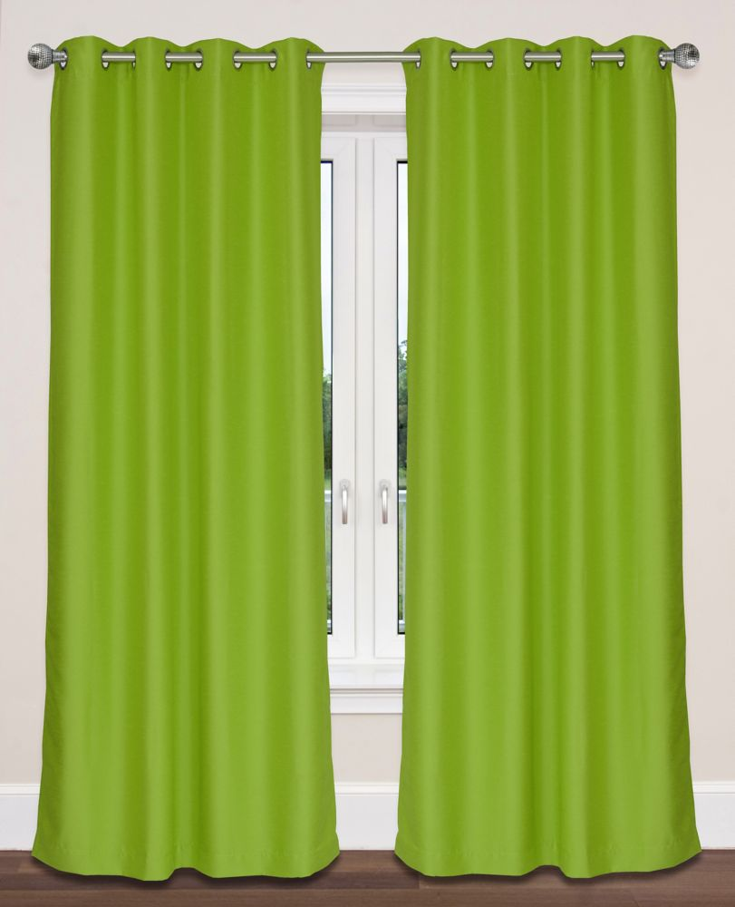 Twilight Room Darkening 54x95-inch Grommet 2-Pack Curtain Set, Chartreuse