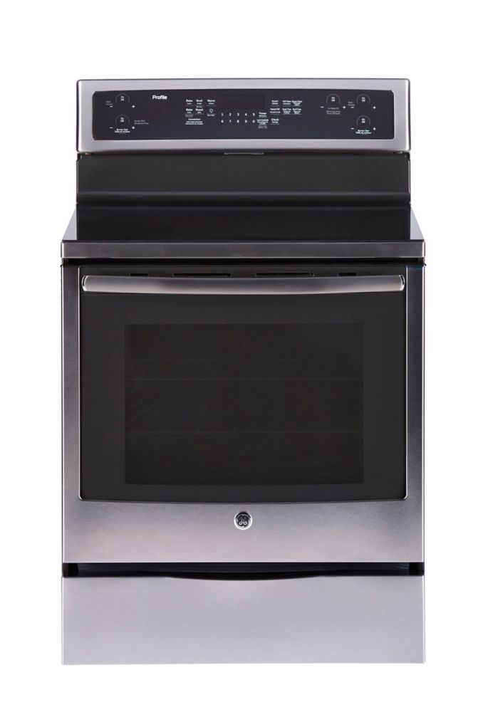 GE Profile 30-inch 6.2 cu. ft. Electric Range with Self Cleaning True Convection Oven in Stainless Steel