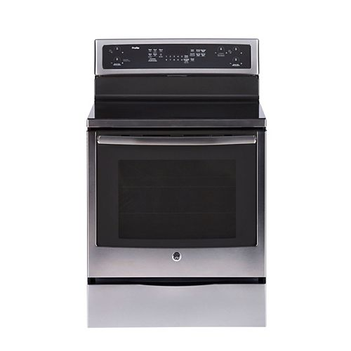 GE Profile 30-inch 6.2 cu. ft. Single Oven Electric Range with Self-Cleaning Convection Oven in Stainless Steel