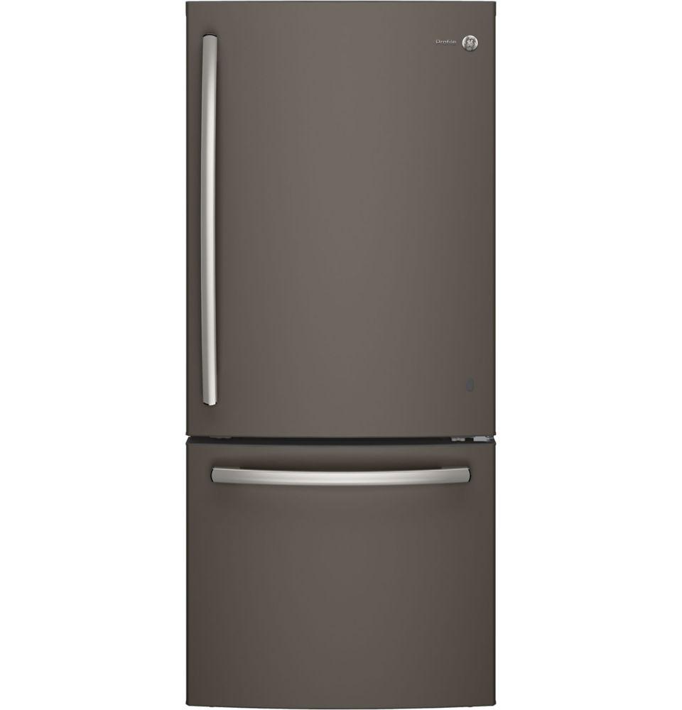 "GE Profile 30"""" 20.9 cu. ft. Bottom Freezer Refrigerator in Slate - ENERGY STAR®"