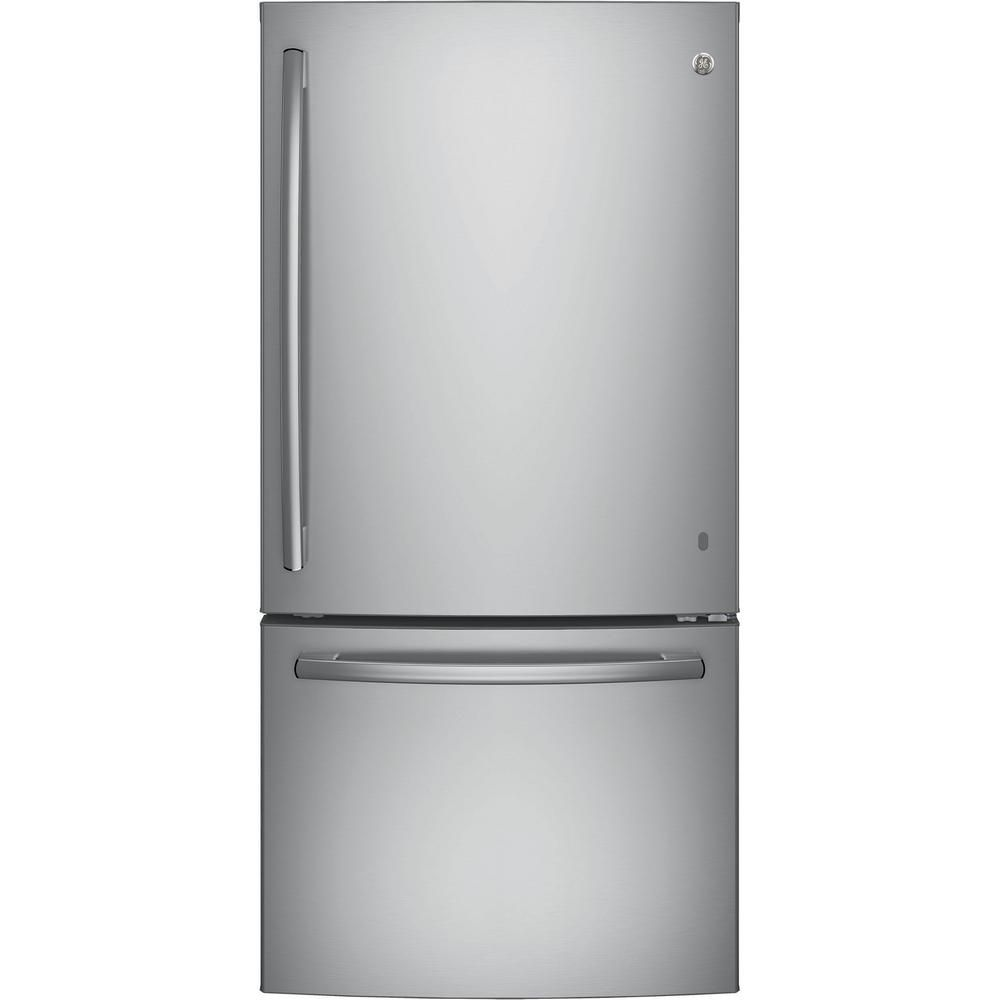 24.9 cu. ft. Bottom Mount Refrigerator with Factory Installed Icemaker