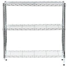 36-inch H x 36-inch W x 14-inch D 3-Shelf Shelving Unit in Chrome
