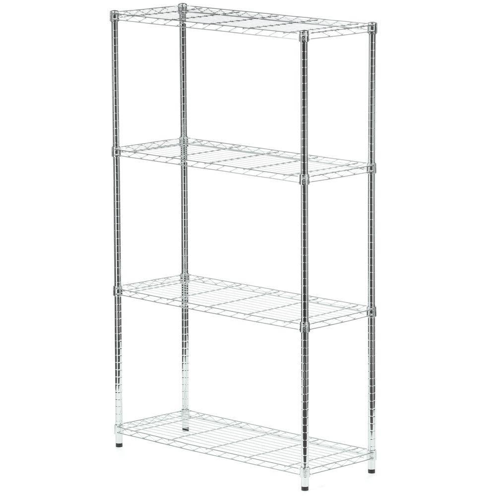 4-tier chrome shelving unit - 200 lbs per shelf