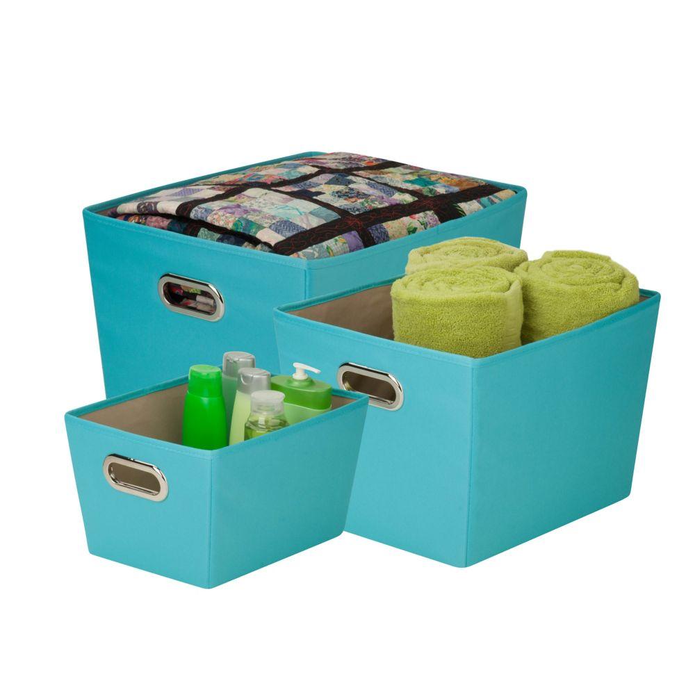 organizing tote kit, turquoise