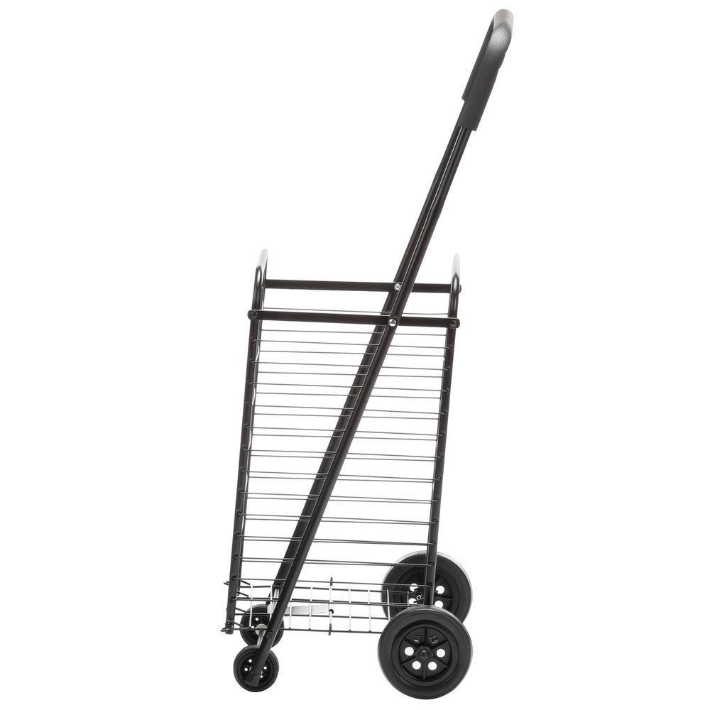 Honey-Can-Do International Steel Rolling 4-Wheel Utility Cart in Black