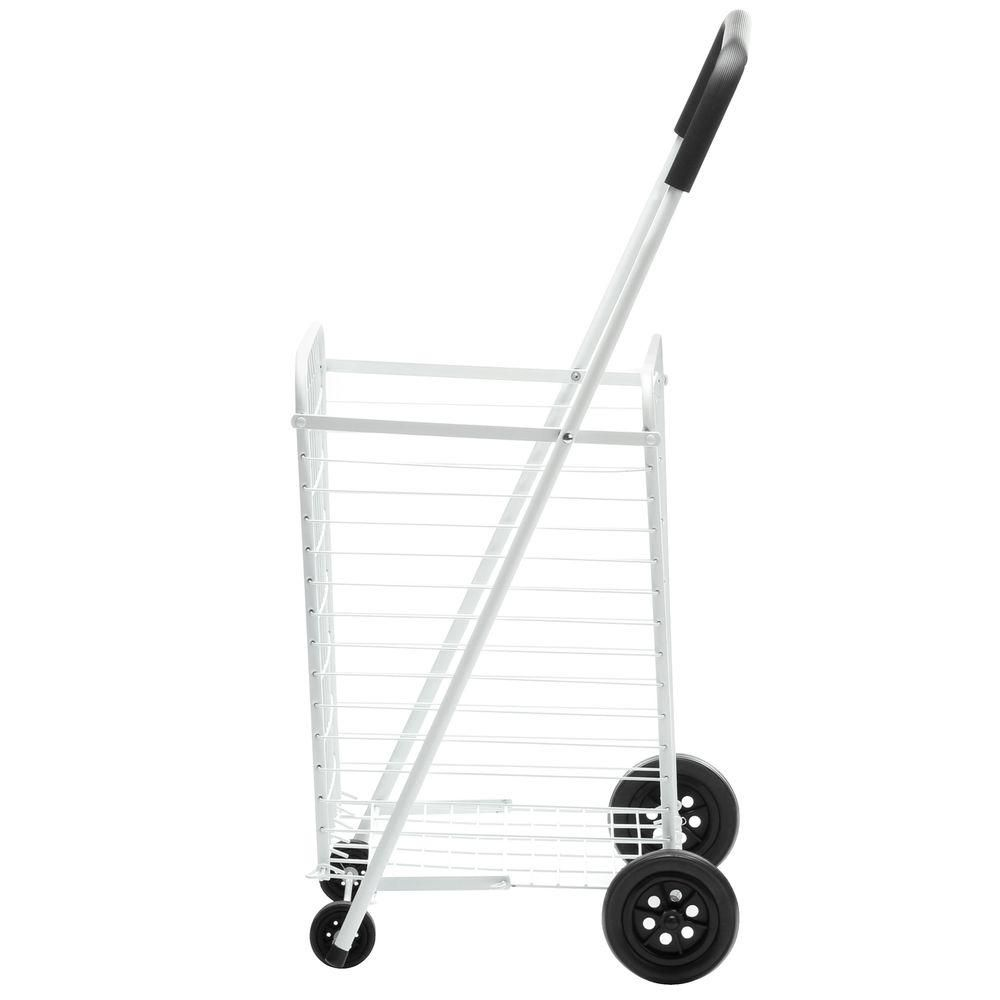 all purpose rolling utility cart, white