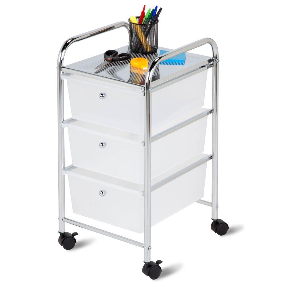 3 drawer rolling cart