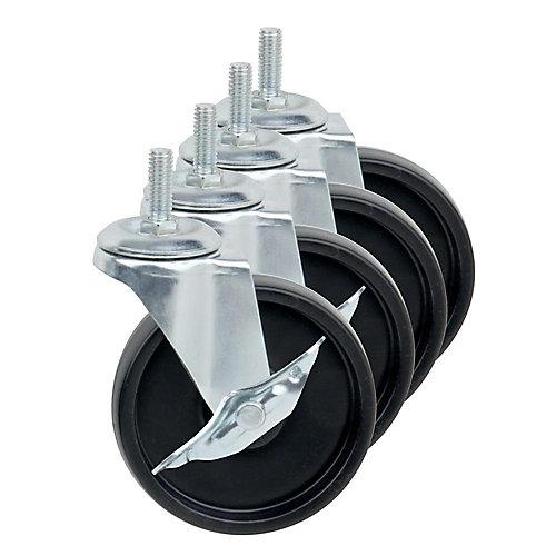 roues d'unités de rayonnage, 4 par paquet