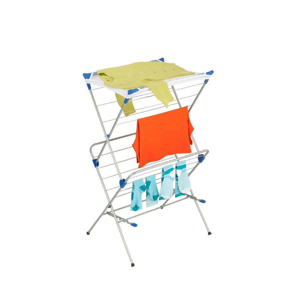 2-tier mesh top drying rack 33 linear feet