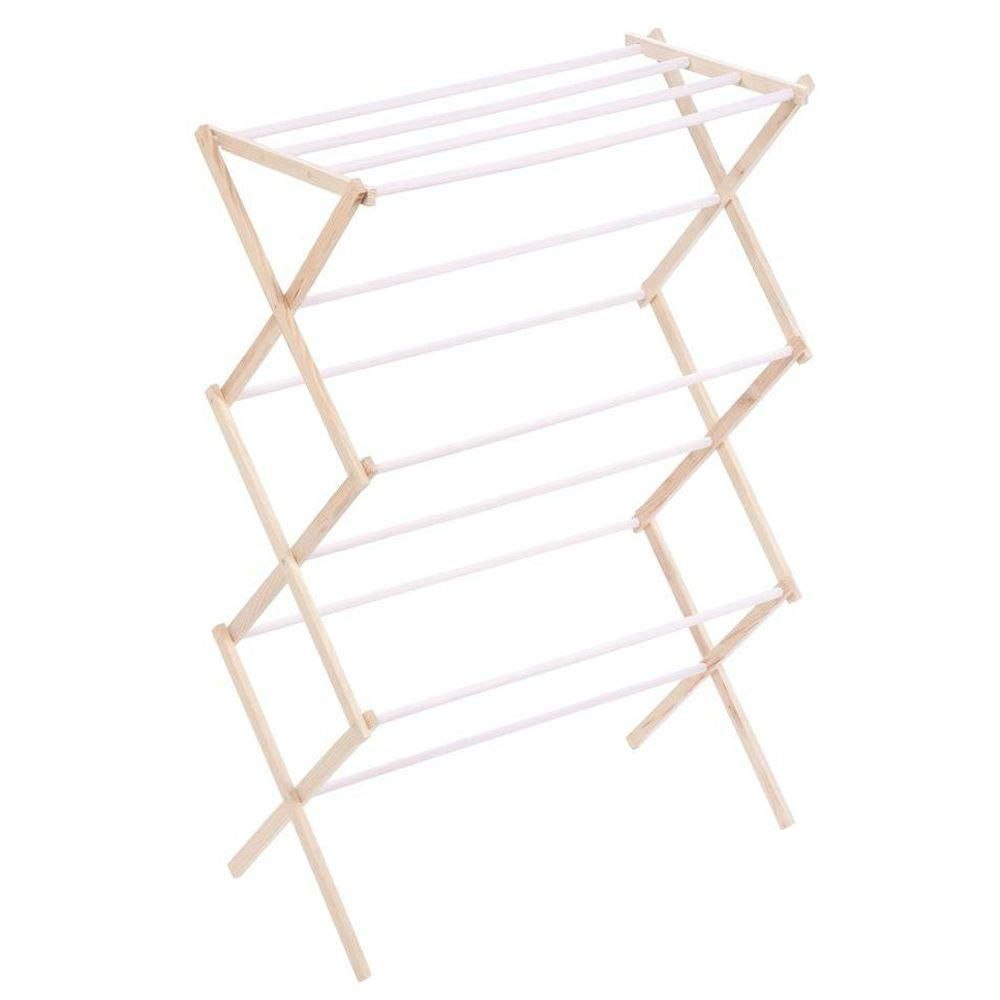honey can do international wood accordion drying rack the home depot canada. Black Bedroom Furniture Sets. Home Design Ideas
