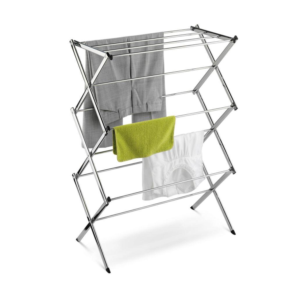chrome accordion drying rack 24 linear feet