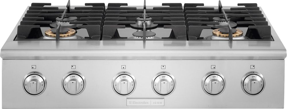 Frigidaire 36-inch Gas Slide-In Cooktop with 6 Burners in Stainless Steel