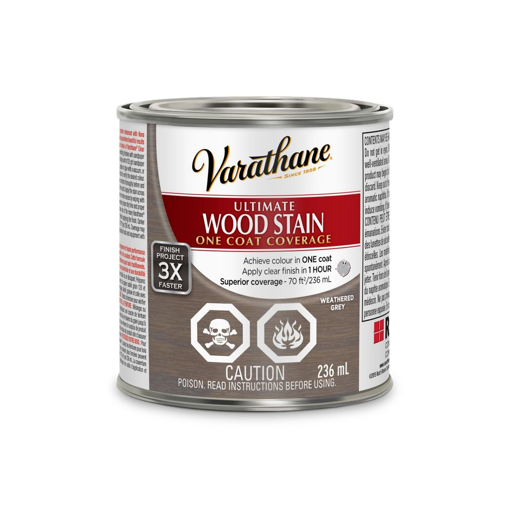 Varathane Ultimate Stain Weathered Grey 236ML