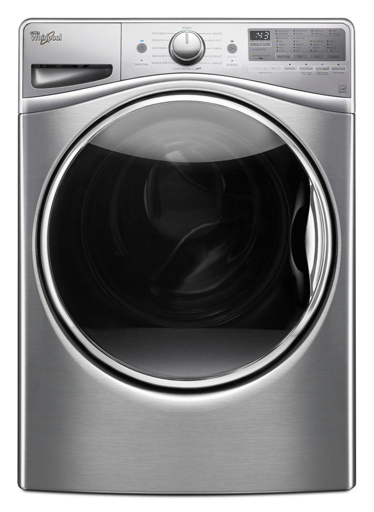 Laveuse à chargement frontal Whirlpool<sup>®</sup> de 5,2 pi cu C.E.I. avec distributeur de déter...