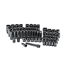64pc 1/2 Inch Drive Sae/Mm Impact Socket Set