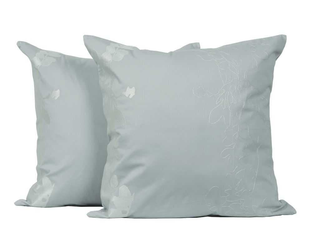Allure Embroidered Cotton 18-inch Square 2-Pack Decorative Cushion Set
