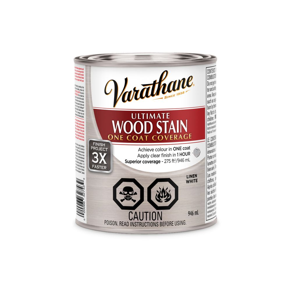 Varathane Ultimate Stain White Linen 946ML