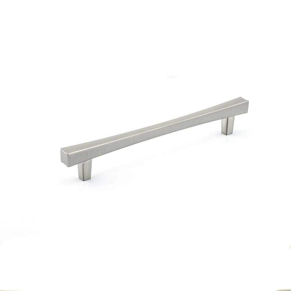 6-5/16-inch (160 mm) Center-to-Center Brushed Nickel Transitional Drawer Pull