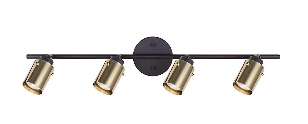 Accueil Décorateurs Caymus 4 lumière eclairage sur rail de huilé bronze avec des nuances de cuivre