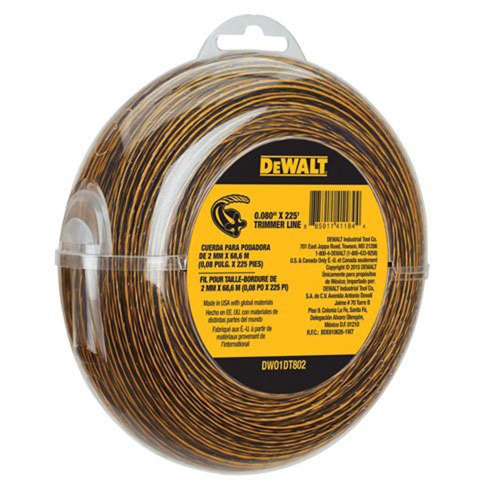 Dewalt DWO1DT802 String Trimmer Line, 225-Ft by 0.080-In