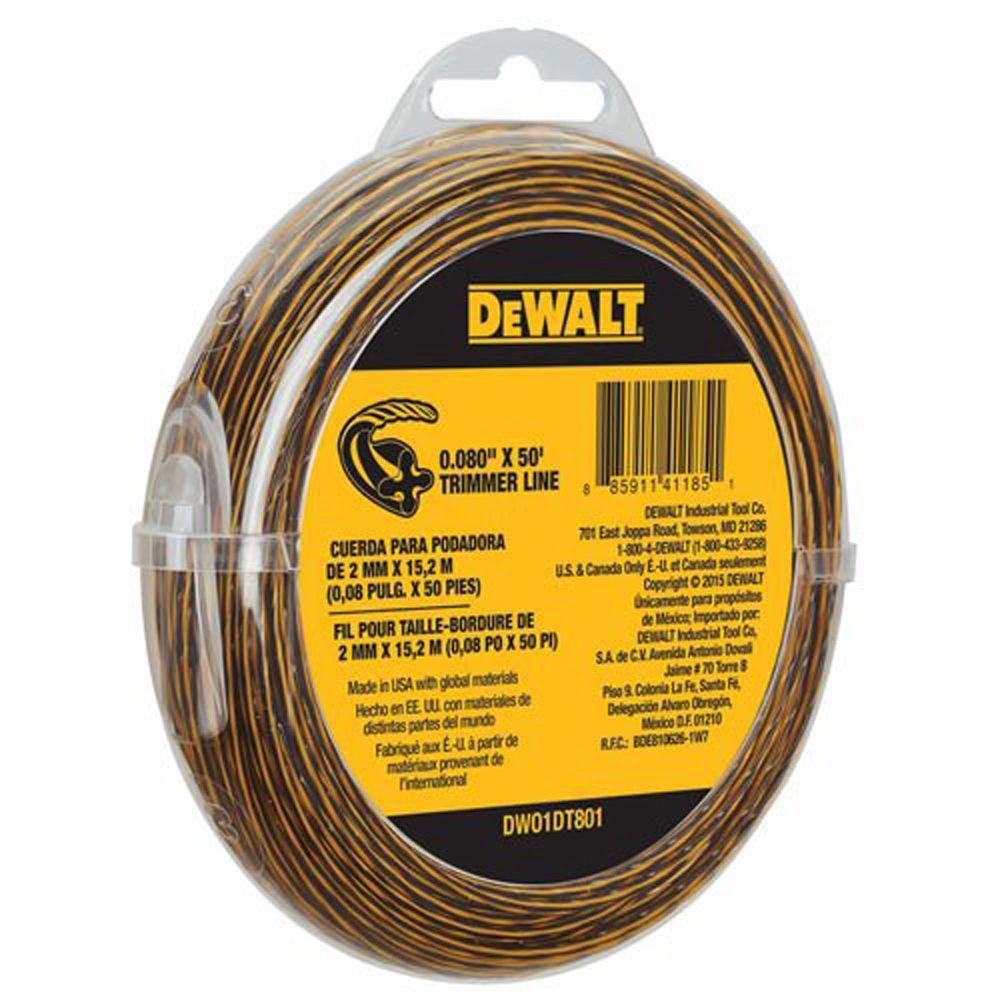 Dewalt DWO1DT801 String Trimmer Line, 50-Ft by 0.080-In