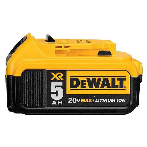 DEWALT 20V MAX XR Lithium-Ion Premium Battery Pack 5.0Ah