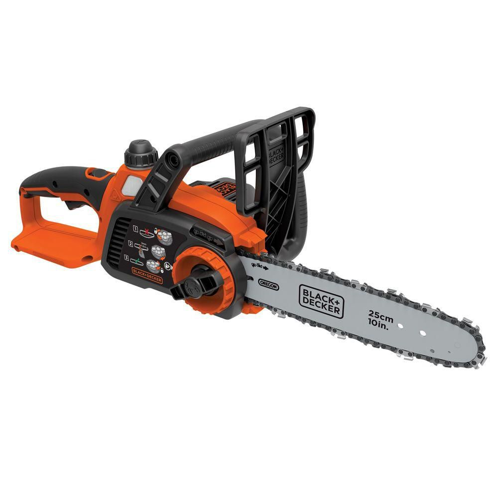 BLACK+DECKER 10-inch 20V MAX Li-Ion Cordless Chainsaw (Tool Only)