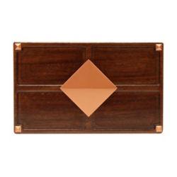 Hampton Bay Wireless or Wiredd Door Bell - Medium Red Oak Wood with Diamond Medallion