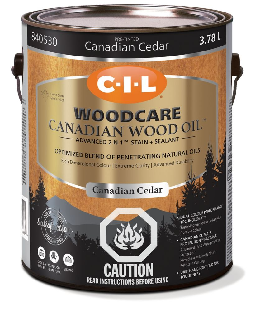 CIL Woodcare Canadian Wood Oil Ced 3.78L-840530