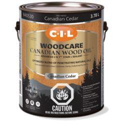 CIL Traite-Bois Huile de bois canadien Cèdre 3.78L-840530