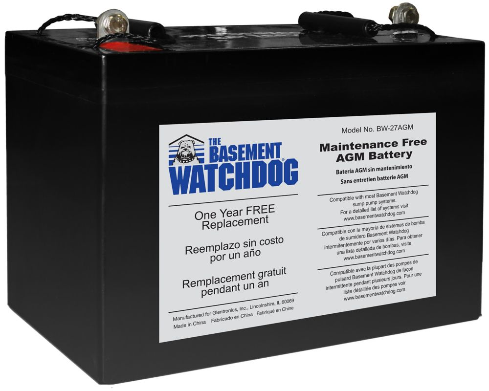 Batterie de réserve AGM sans entretien The Basement Watchdog