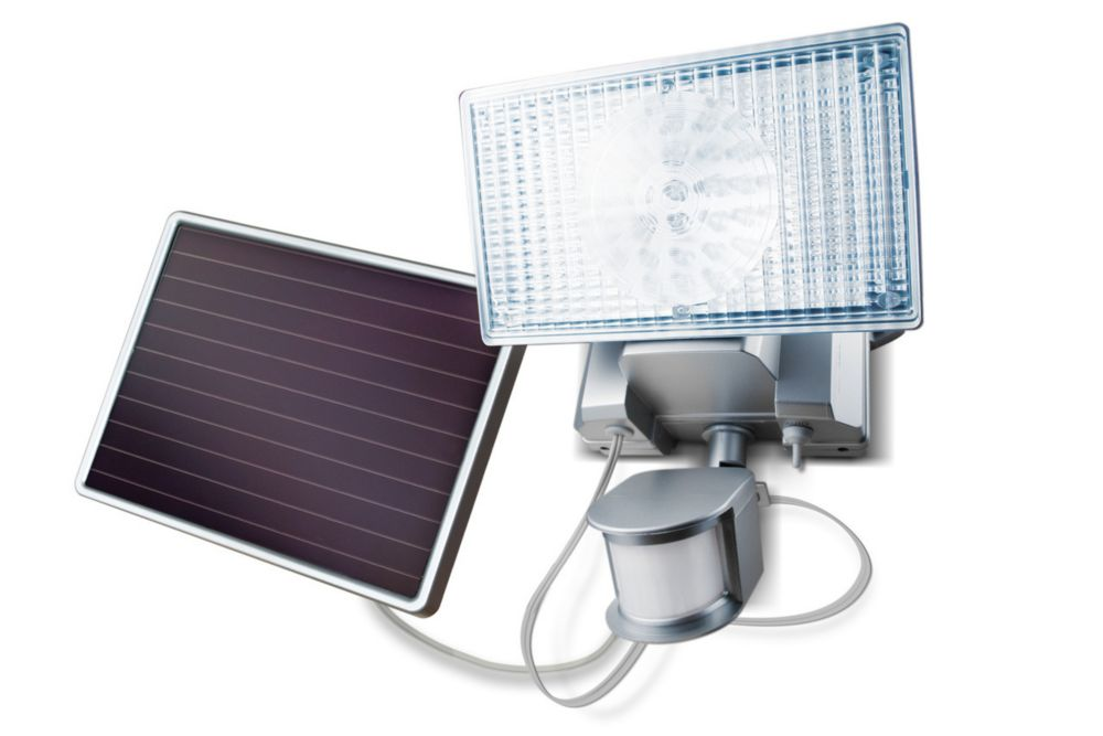 Maxsa Innovations Solar-Powered 80 LED Security Floodlight - Off White