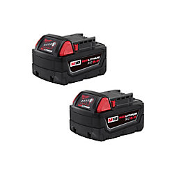 M18 18V Lithium-Ion Extended Capacity (XC) 5.0 Ah REDLITHIUM Battery (2 Pack)