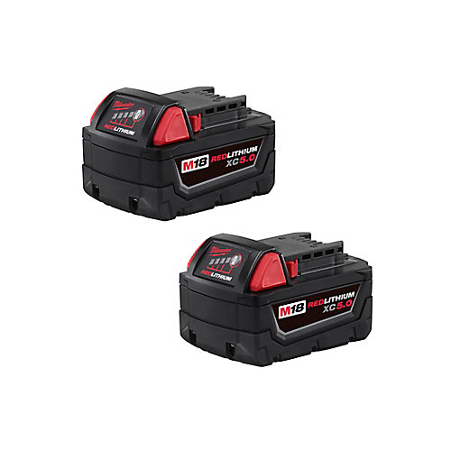 M18 18V Lithium-Ion XC Extended Capacity Battery 5.0Ah (2-Pack)