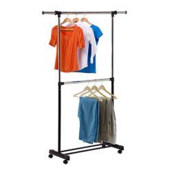 Honey-Can-Do International Dual Rod Expandable Garment Rack