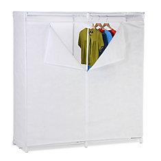60-inch H x 64-inch W x 20-inch D Portable Closet in White