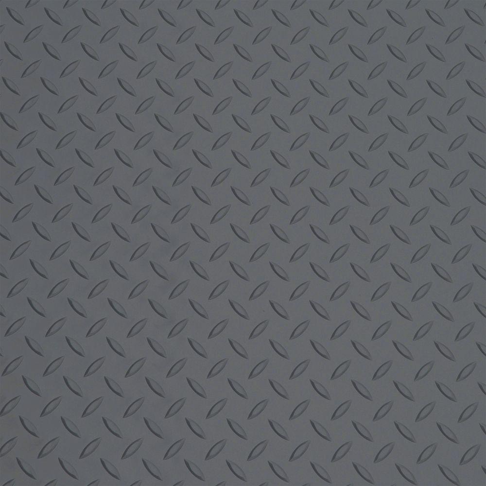 Couvre-sol pour moto, cuirassé gris, 5 pi x 7,5