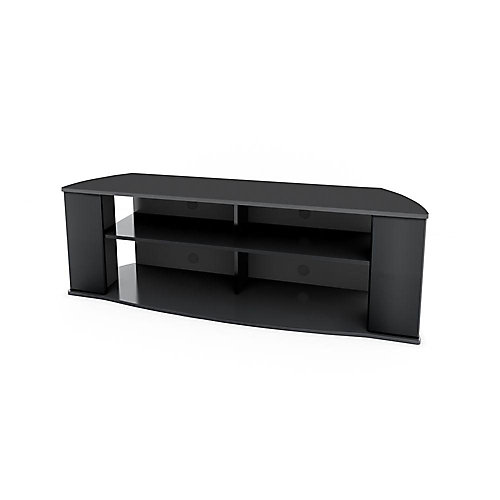 Essentials 60-inch x 19.75-inch x 15.75-inch TV Stand in Black