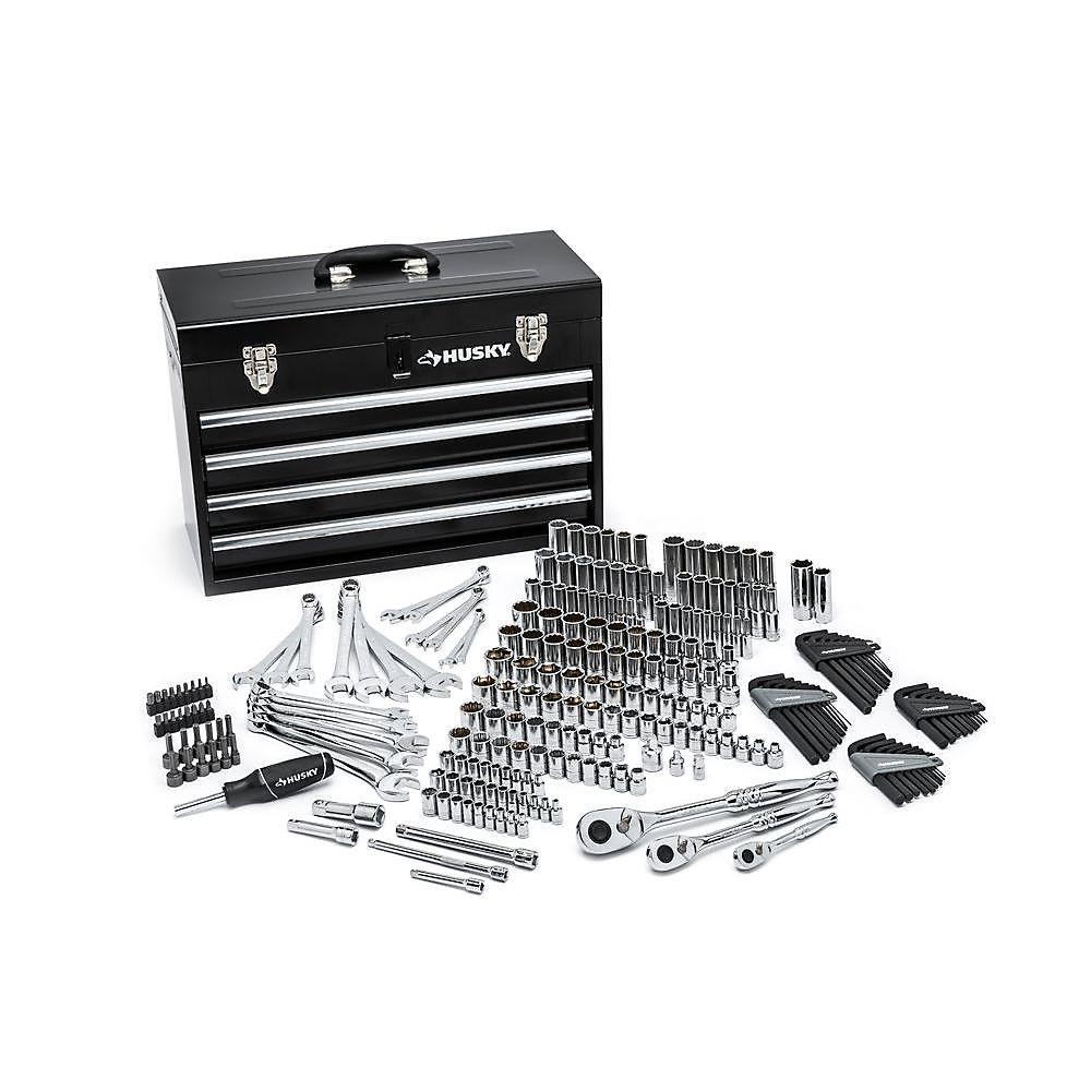 6daa0e212c0 HUSKY 250-Piece Mechanics Tool Set W/Metal Box | The Home Depot Canada